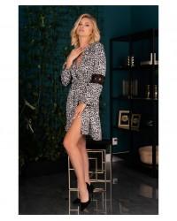 Халат чорно-білий Nearan Livia Corsetti Fashion